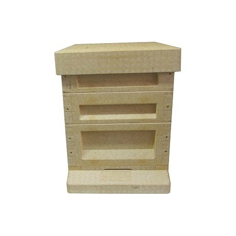 National Poly Hive with 2 Supers inc Frames and Wax in both (ASSEMBLED)
